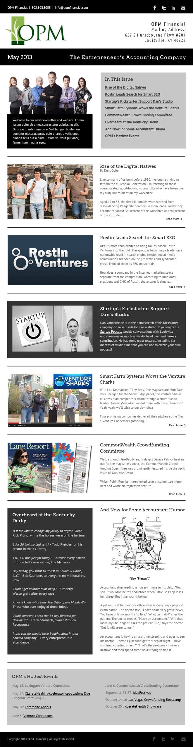OPM Newsletter