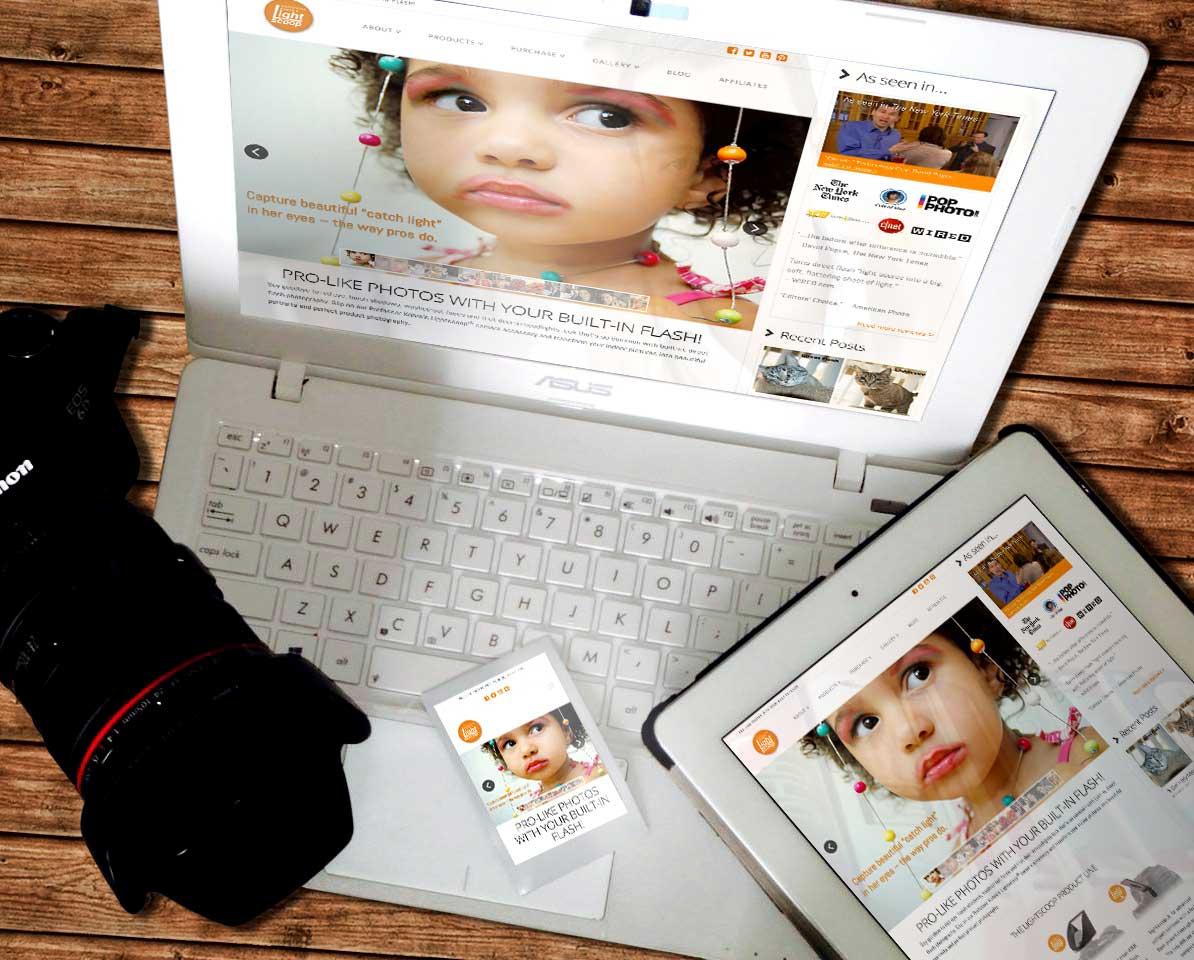 Lightscoop Website + Promotional Materials