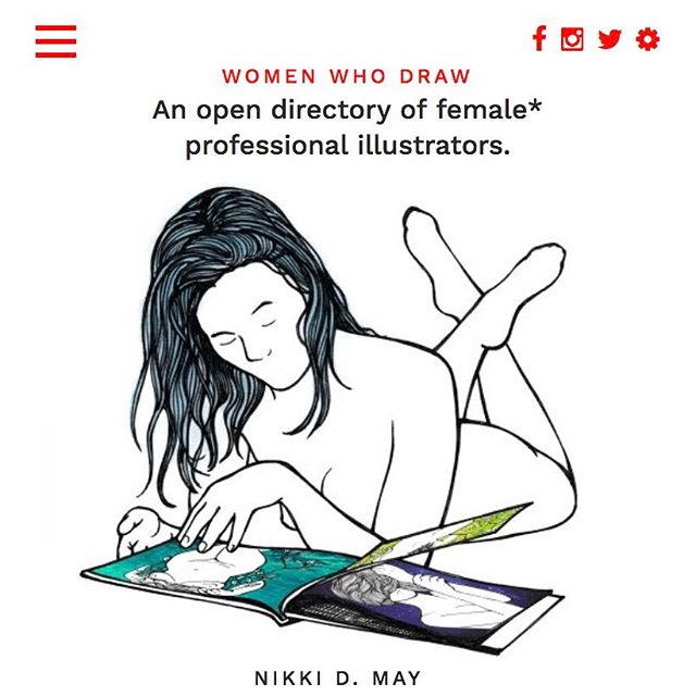 Thrilled to be included on the Women Who Draw website with a ton of really talented artists/illustrators!