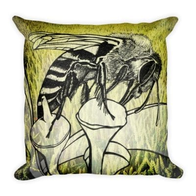 Square Bee Pillow