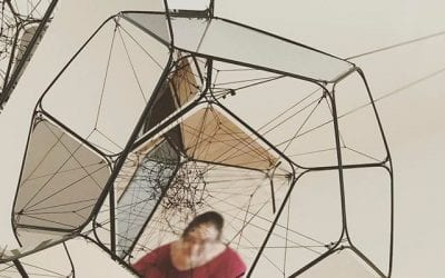 Self portrait in unwitting collaboration with Tomás Saraceno.