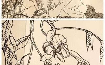 #365accordionproject #ijustwanttodrawprettypictures #womenwhodraw #wisteria