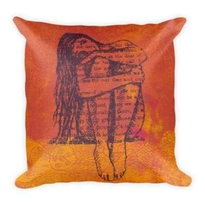 Our Fear Square Pillow (orange)