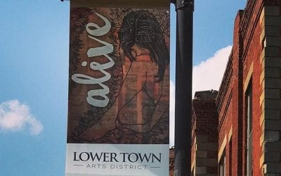 How cool is it that two of my naked women are gracing the streets of Lower Town? #partakeinpaducah #ijustwanttodrawprettypictures