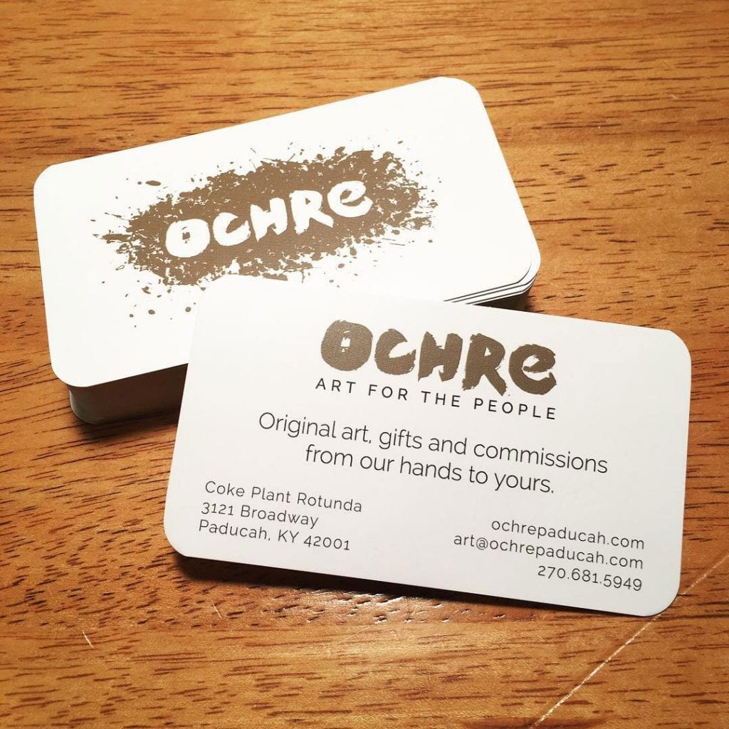 Ochre business card