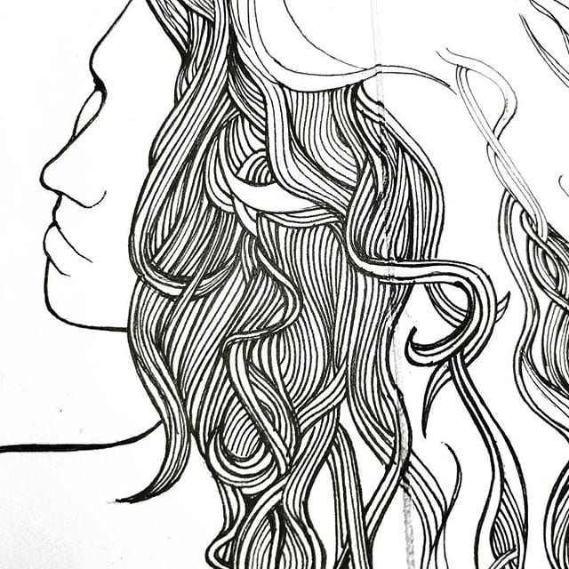 Drawing hair > packing and cleaning.