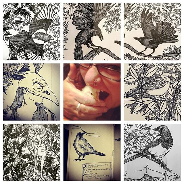 Art vs. Artist, bird edition! Also, I put inappropriate things in my mouth.