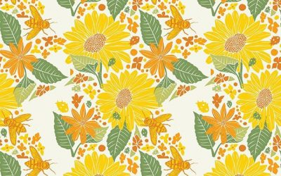Today's pattern in my is brought to you by the arrival of spring – a month late!