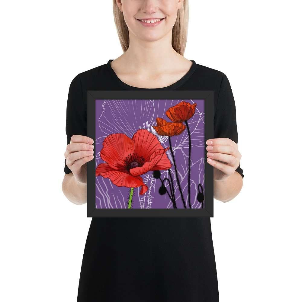 Poppy – August Birth Month Flower – Framed Print
