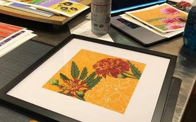 Framing pretty flower prints to bring to the Smedley Artisan Market Sunday! Come see me and bring home some flowers that will last forever