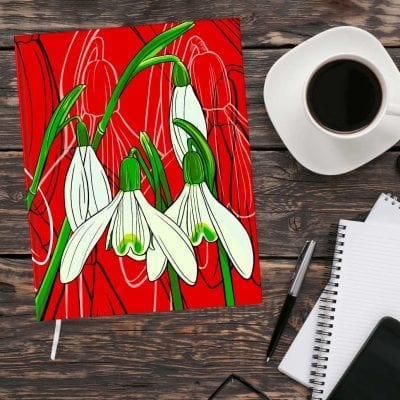 January Birth Month Flower Journal - Snowdrop