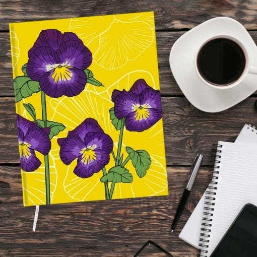 February Birth Month Flower Journal - Violet