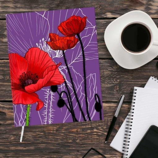 August Birth Month Flower Journal - Poppy