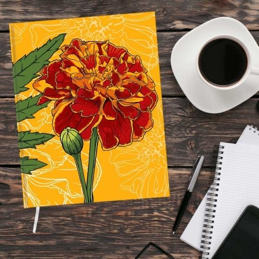 October Birth Month Flower Journal - Marigold