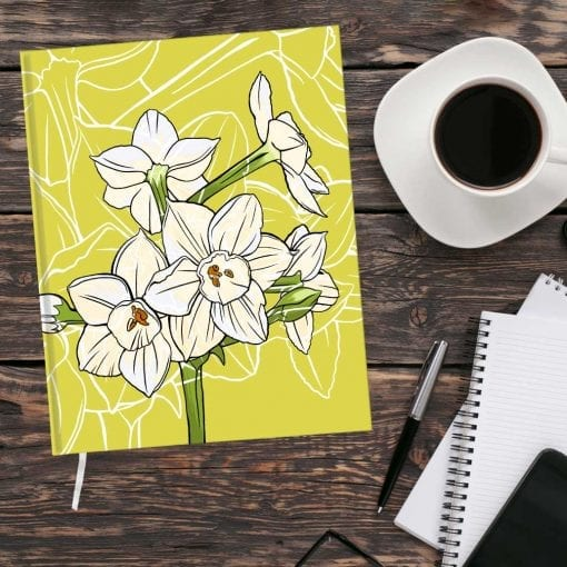 December Birth Month Flower Journal - Paperwhite Narcissus