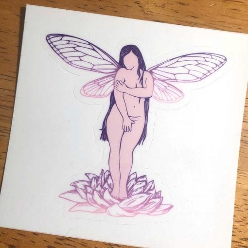 Cicada Girl Sticker