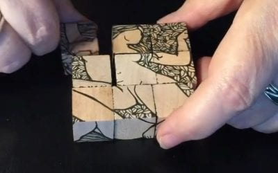 Searching through my zillions of totally unorganized photos and I found this fun little video of my little six sided block puzzle. I'm thinking about doing some more of these, but engraved on the  rather than hand-drawn. Good idea?