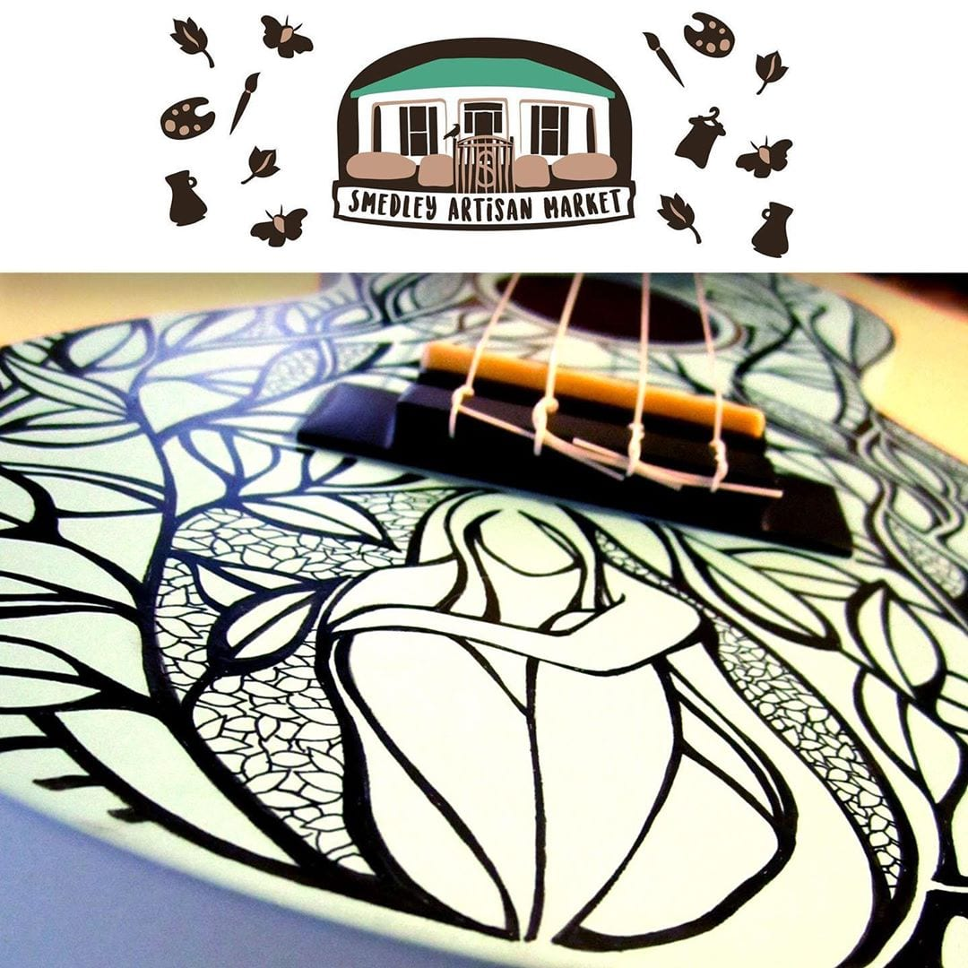 Come see me this Saturday evening at the Smedley Artisan Night Market and watch me draw live on a ukulele! Not cool enough? I'm going to raffle off the finished uke at the end of the evening. Come join me and other artist vendors and demos, live music, cocktails, a food truck and spiked root beer floats! This Saturday, July 20 from 5-10pm at the . Organized by the lovely ladies at !
