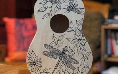 Drawing on this ukulele was super fun!