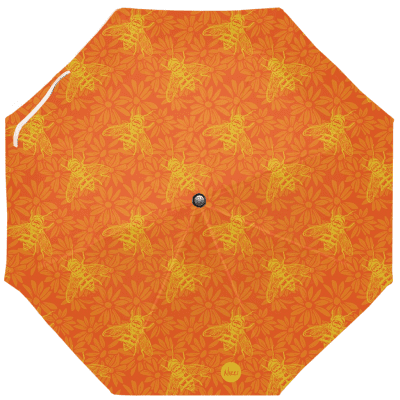 Umbrella with flowers and bees
