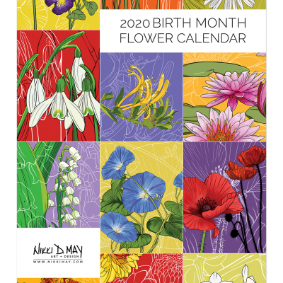 2020 Birth Month Flower Calendar
