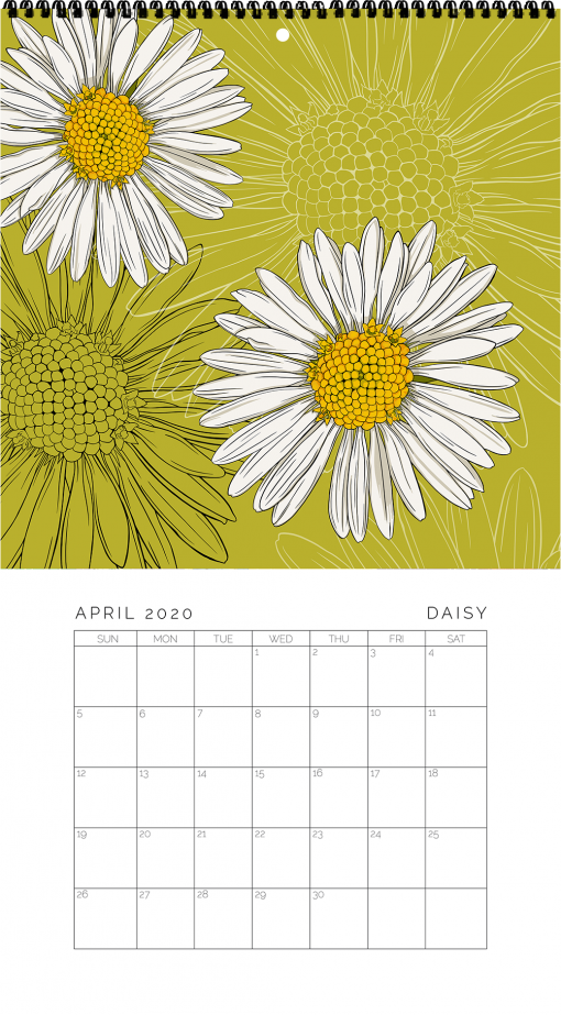2020 Birth Month Flower Calendar - April
