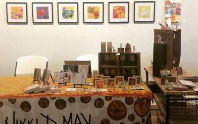 Four more hours of selling art and drinking boozy coffee! Come on down!