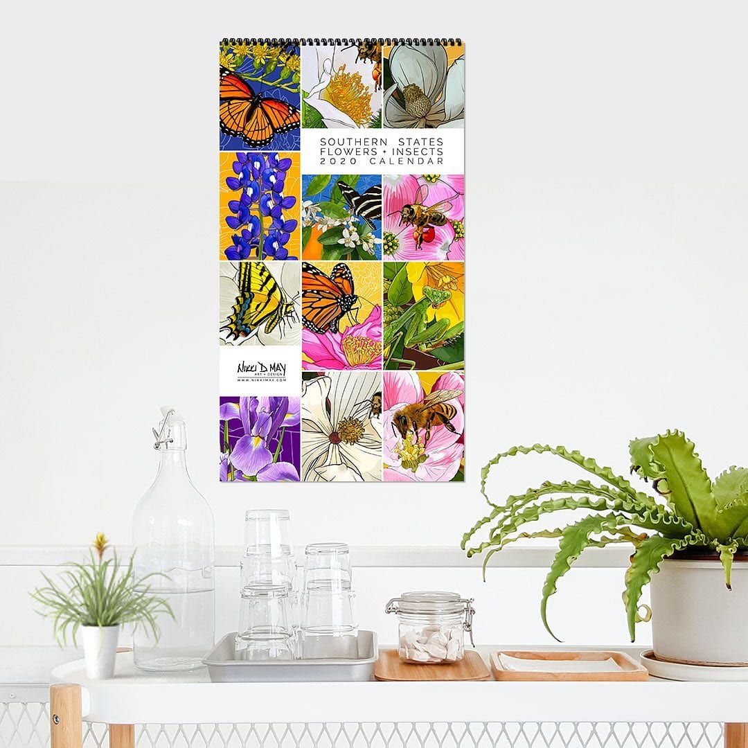 My 2020 Southern States Flowers + Insects calendars are here!!