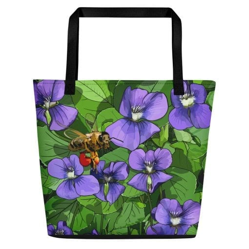 Violets + Honeybee Beach Bag