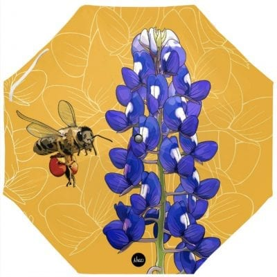 Bluebonnets + Honeybee Umbrella
