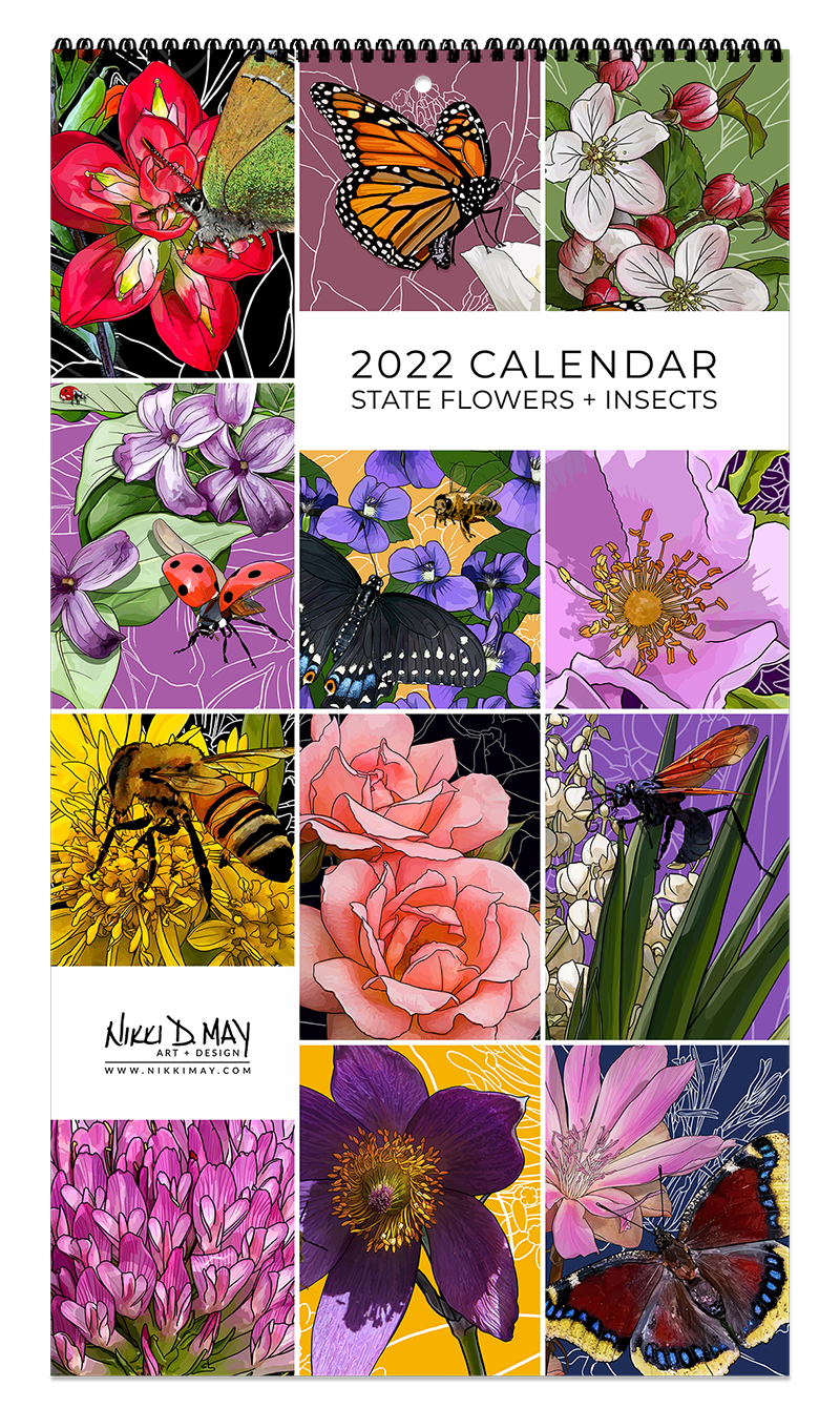 2022 State Flowers + Insects Calendar