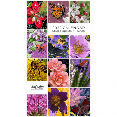 2020 State Flower + Insect Calendar